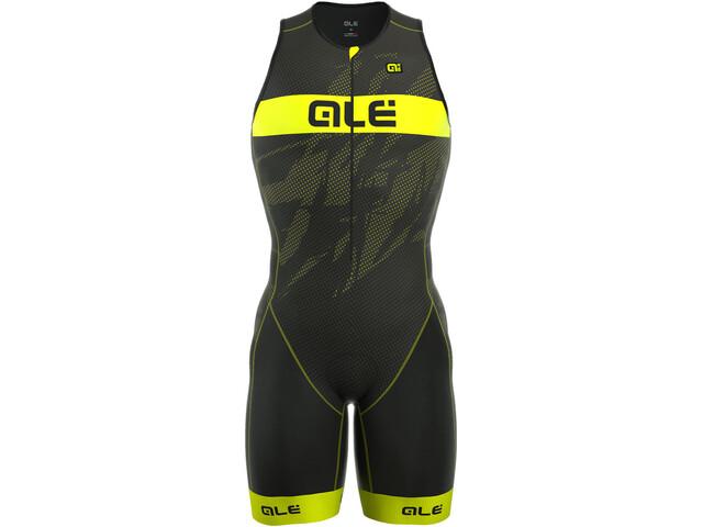 Alé Cycling Triathlon Long Record Herrer Front Zipper gul/sort | Tri og enkeltstart